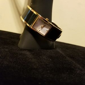 Estee Lauder Bangle Watch Navy and Gold